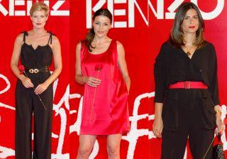 Elena Tablada, Cecilia G�mez y Tania Llasera en la fiesta de Kenzo