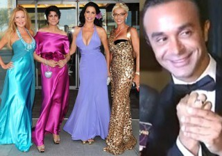 Isabel Pantoja, Bel�n Esteban, Ana Obreg�n y Cristina T�rrega en la boda de Luis Roll�n