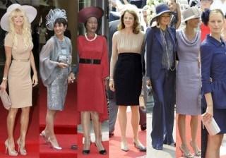 Desfile de invitados y vestidos Reales en la boda del Pr�ncipe Alberto de M�naco y Charlene Wittstock