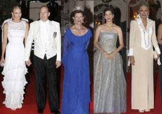 Elegancia y glamour en la cena de gala de los Pr�ncipes de M�naco