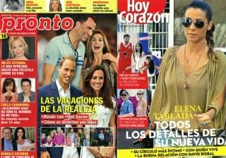 Las portadas de las revistas Pronto, Intervi�, QMD y Hoy Coraz�n de la semana 26/07/11