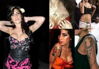 Los tatuajes de Amy Winehouse... �al descubierto!