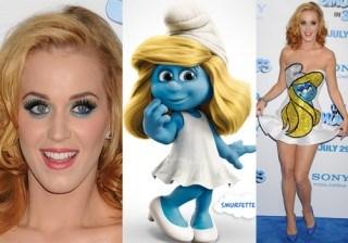 Copia el look de Katy Perry... �y convi�rtete en la pitufina!