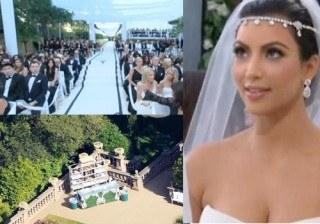 La exc�ntrica boda en blanco y negro de Kim Kardashian