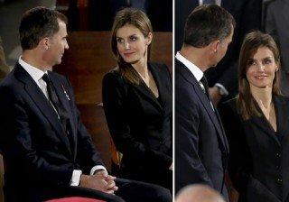 La complicidad entre Letizia Ortiz y el pr�ncipe Felipe, protagonistas del funeral de Estado por Adolfo Su�rez