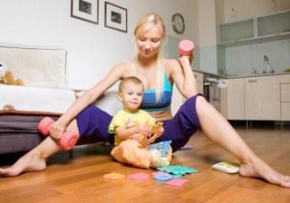 �Adelgazar y ponerte en forma con tu beb� en casa? �S�!