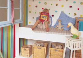 Trucos decorativos f�ciles con papel pintado para habitaciones infantiles