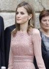 Letizia Ortiz recicla el vestido de la boda de Kate Middleton en su visita a Galicia