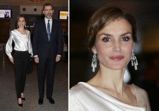 Letizia Ortiz hace �nico un look cl�sico en su primera noche en la �pera como Reina