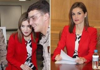Letizia Ortiz elige el rojo