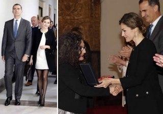 Letizia Ortiz oscurece Sevilla en la entrega de las Medallas de Oro al M�rito en las Bellas Artes 2014
