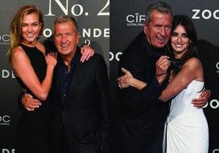 Pen�lope Cruz y Karlie Kloss seducen a Mario Testino en el estreno de