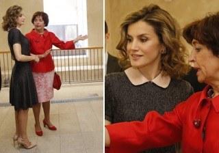Letizia Ortiz repite su look m�s infantil para �re-conocer� el Patrimonio espa�ol en Europa