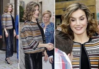 Letizia Ortiz luce uno de sus looks m�s arriesgados en La Rioja