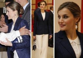 Fotos Letizia Ortiz con nuevos pantalones anchos y clasicismo multimarca en San Sebasti�n width=