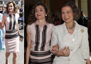 Letizia Ortiz estrena un moderno look bicolor para derrochar complicidad con su suegra