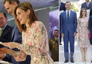Letizia Ortiz sorprende y rejuvenece con su vestido floral de Zara en la entrega de Becas Iberdrola