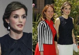 Letizia Ortiz vuelve a Par�s derrochando elegancia y modernidad en blanco y azul
