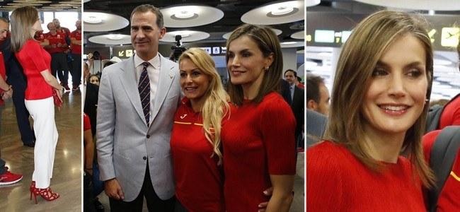 Letizia Ortiz se mimetiza con el Equipo Ol�mpico participante en �R�o 2016�