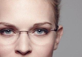 Fotos Maquillaje de novia con gafas y c�mo elegir las gafas ideales para tu boda width=
