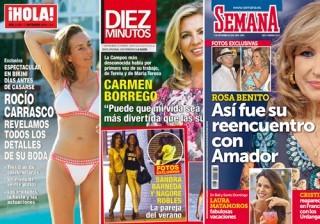 Las portadas de las revistas del coraz�n a 31/08/2016
