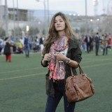 Malena Costa prescinde de maquillaje y luce radiante en la inauguraci�n de un campo de f�tbol