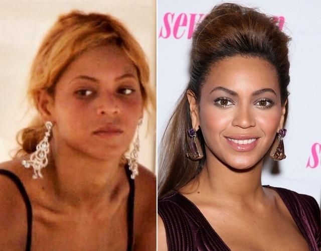 La cantante Beyoncé sin maquillaje