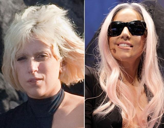 La cantante Lady Gaga sin maquillaje