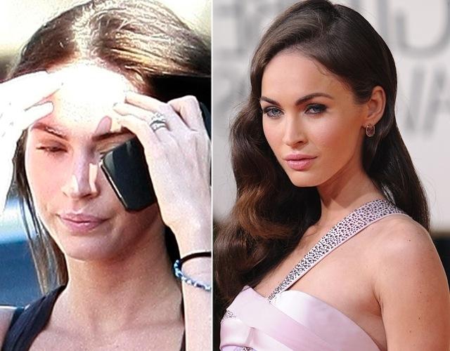 La actriz Megan Fox sin maquillaje
