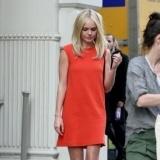 Kate Bosworth con su vestido naranja