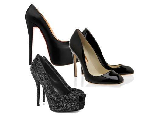 Para la noche, los zapatos altos