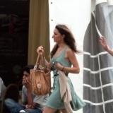Catalina con un vestido muy veraniego