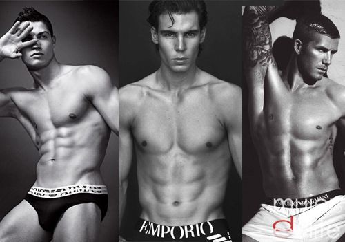 Beckham, Nadal y Ronaldo son im�genes de Armani
