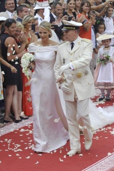 Los Príncipes de Mónaco, felices a la salida del Palacio Grimaldi