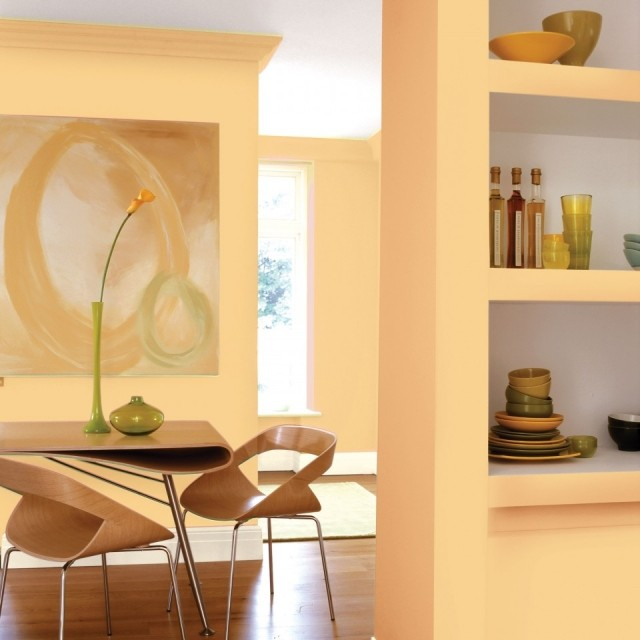 El naranja perfecto para el saln o el comedor fotos for Pinturas interiores 2016