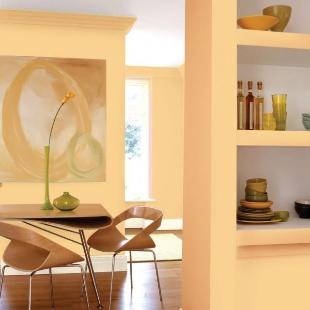 El naranja perfecto para el saln o el comedor fotos for Colores de pintura para sala comedor