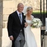 Zara Phillips opt� por un ramo grande para su boda