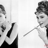 Audrey Hepburn, con un sofisticado peinado colmena