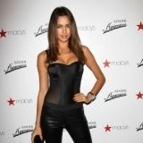 Irina Shayk con corpi�o y leggings negros al m�s puro estilo catwoman