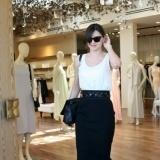 Miranda Kerr con falda l�piz