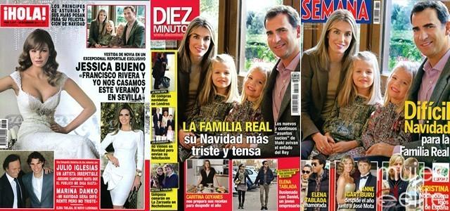 Portadas revistas ¡HOLA!, Diez Minutos y Semana a 21/12/11