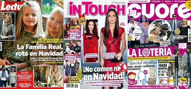 Portadas revistas Lecturas, InTouch y Cuore a 21/12/11