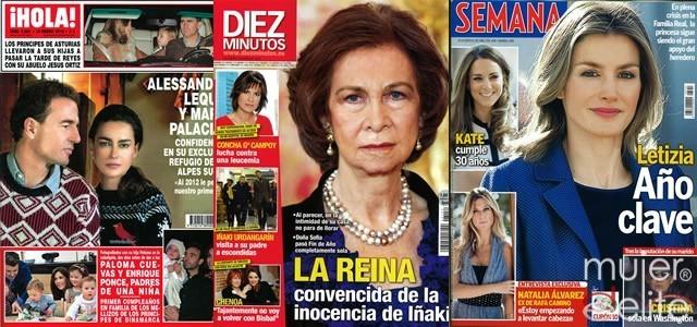 Portadas revistas ¡HOLA!, Diez Minutos y Semana a 11/01/12