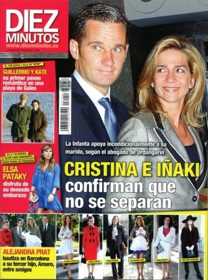 La infanta Cristina e I�aki Urdangar�n, no se separan