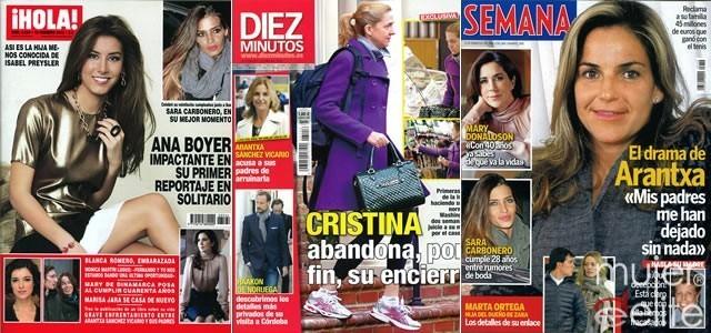 Las portadas de las revistas del corazón de esta semana 08/02/12