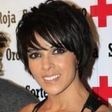 Raquel del Rosario con el pelo corto