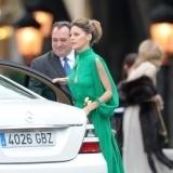Amaia Salamanca, bell�sima de verde en la boda de �lvaro Fuster y Beatriz Mira