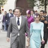 Ana Aznar y Alejandro Agag en la boda de Sabina Flux� y Alfonso Fierro