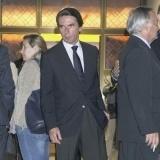 El expresidente Jos� Mar�a Aznar en el tanatorio por la muerte de Mar�a �ngeles Sandoval, esposa de Florentino P�rez