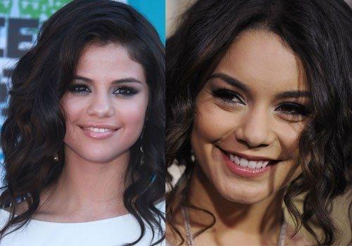 Vanessa Hudgens y Selena G�mez: lucen melenas oscuras